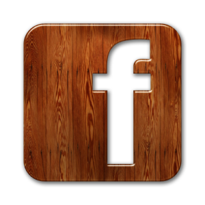 Facebook Icon Wood