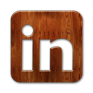 LinkedIn Icon Wood